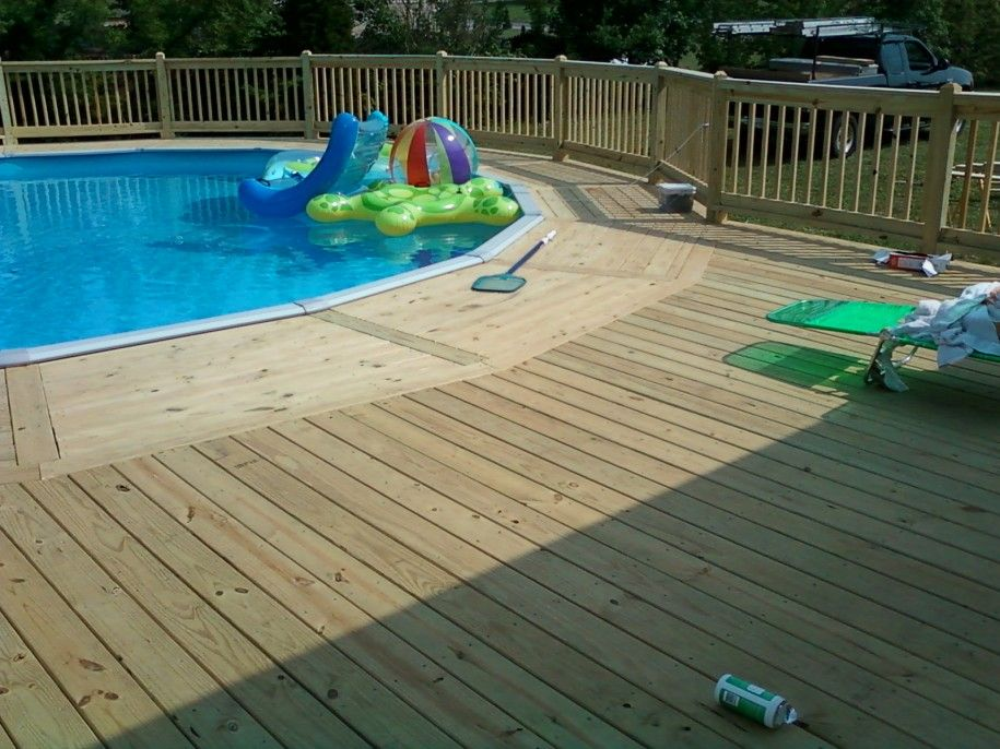 Pool decks above ground designs exciting swimming pool for Above ground pool decks tampa