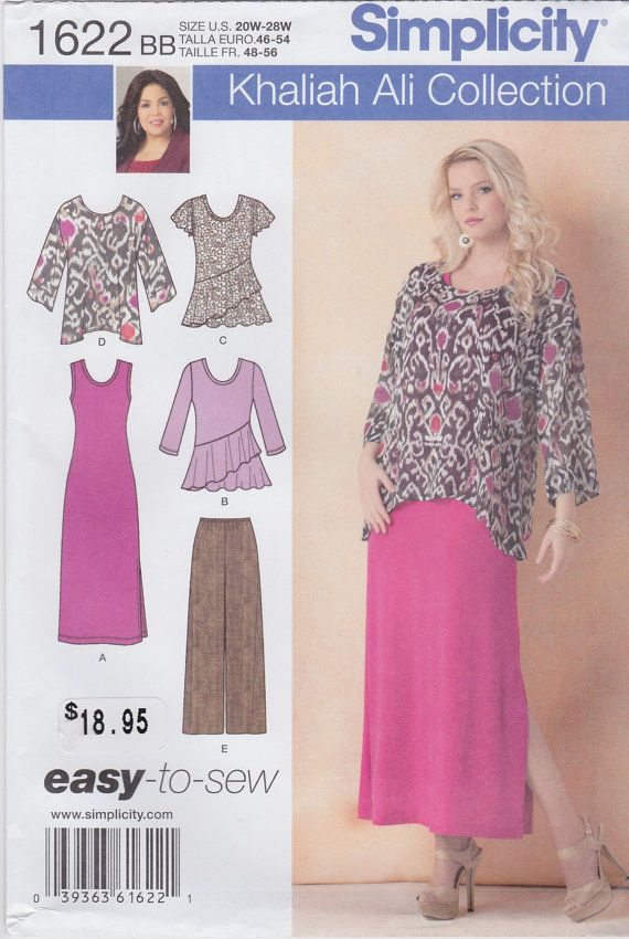 Simplicity Pattern 1622 Khaliah Ali Collection Size by SearaMArt, $7.00
