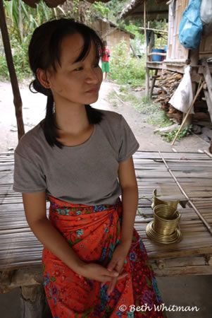 Asking Her In Burmese When The Watchdog Was Least Attentive Whether Or Not
