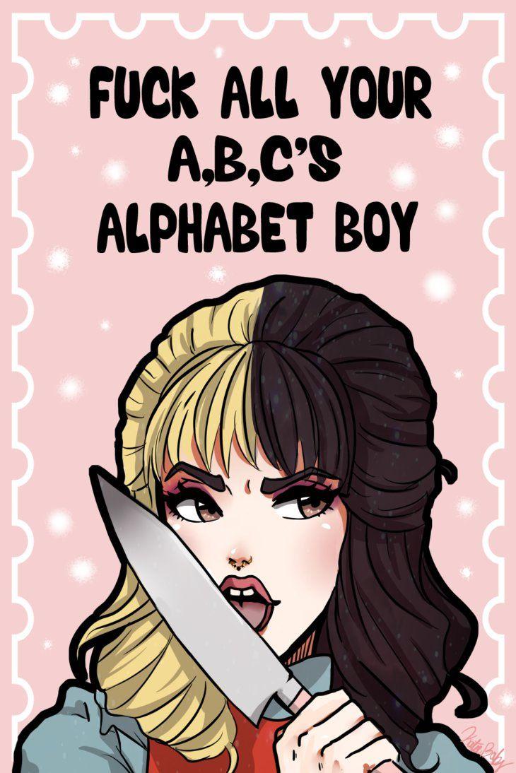 Resultado de imagem para melanie martinez desenho alphabet boy
