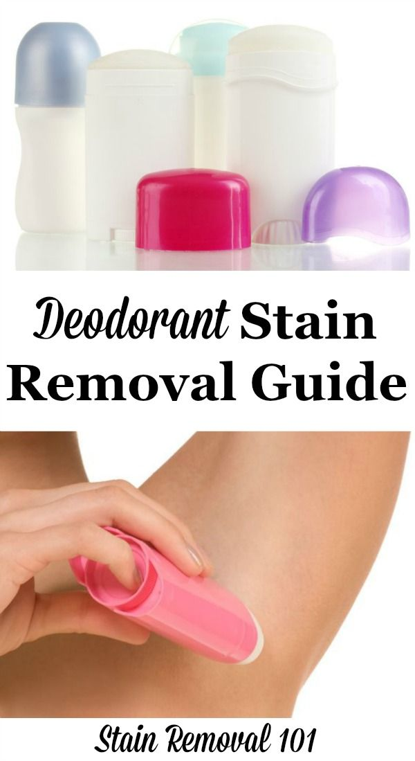 How To Remove Deodorant Stains Remove Deodorant Stains Deodorant Stains Carpet Cleaning Hacks