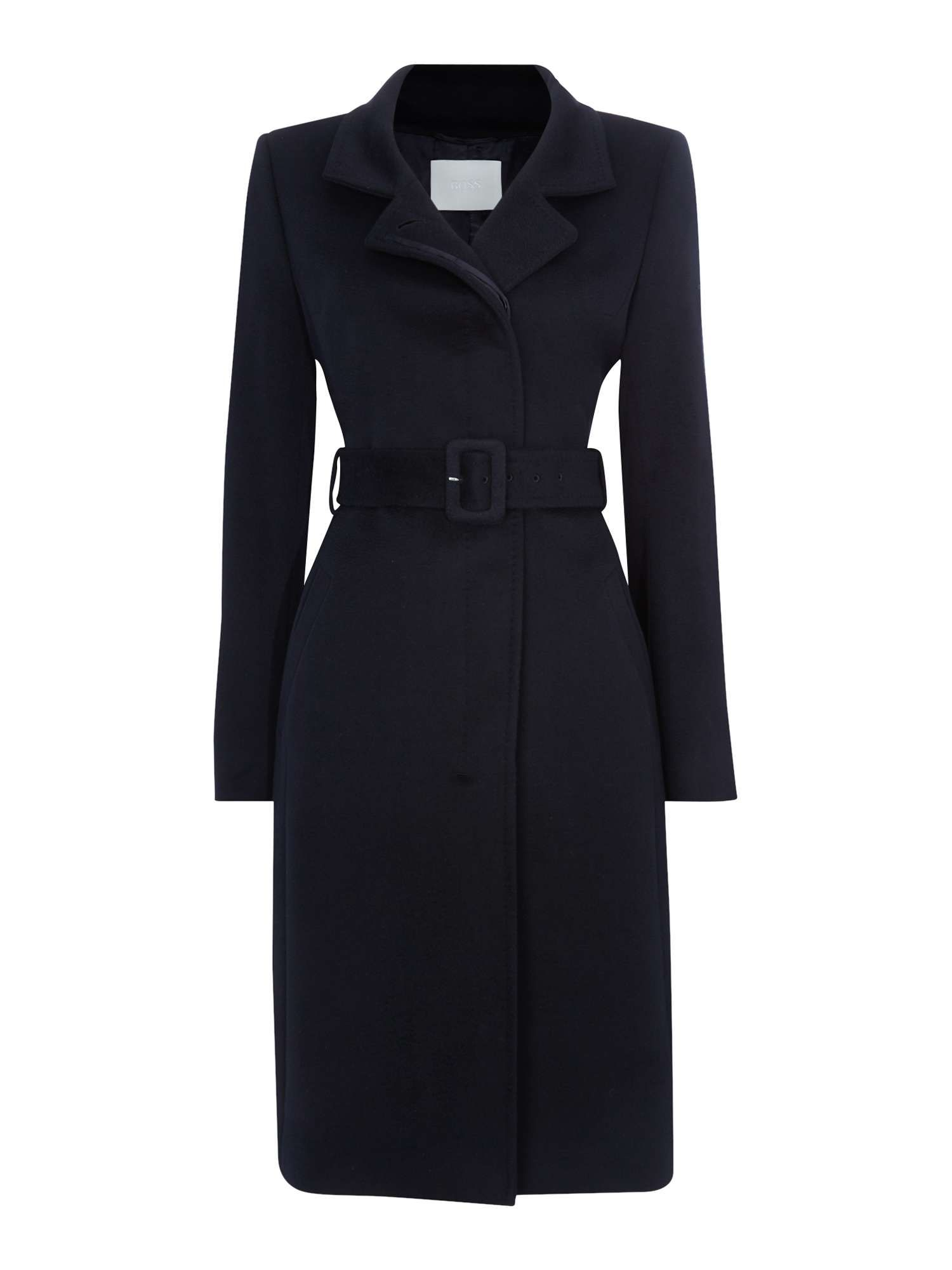 ad1f5e24dc Hugo Boss Cetiva Belted Wool Coat - House of Fraser