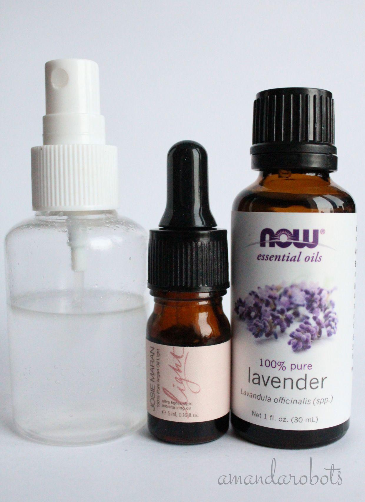 Diy lavender curl refreshing spray diy hair spray curly