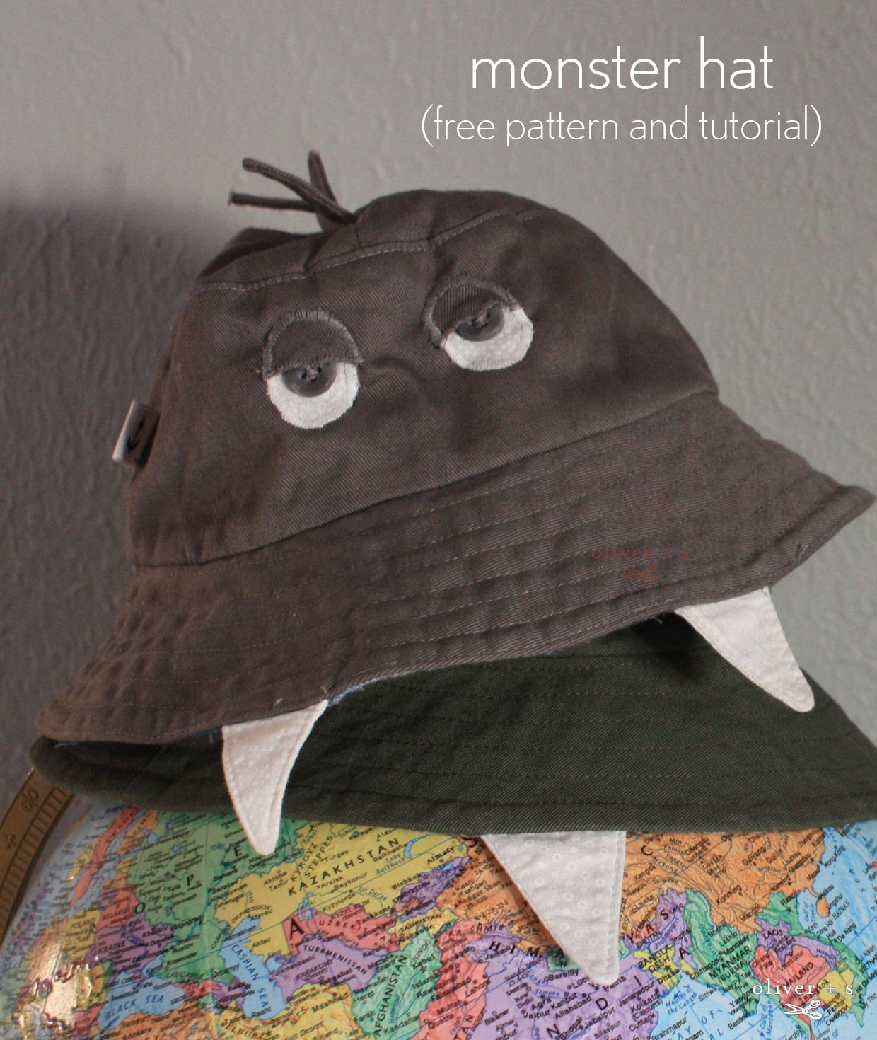 monster hat: free pattern and tutorial
