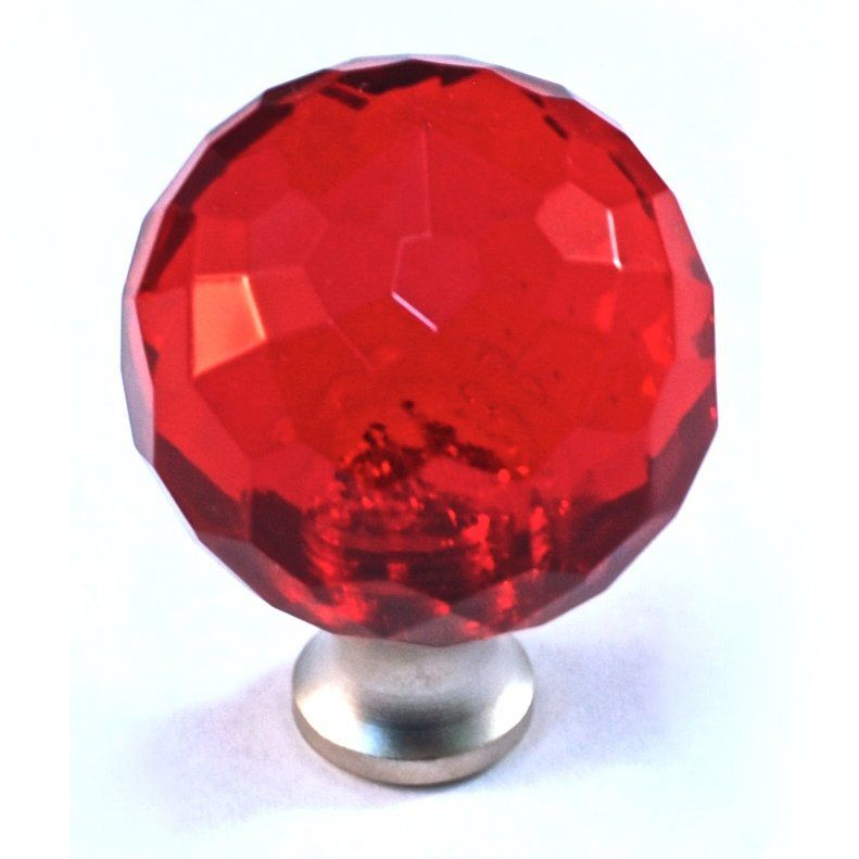 Cal Crystal M30 RED-US Imported Lead Cabinet Knob, Red Kitchen