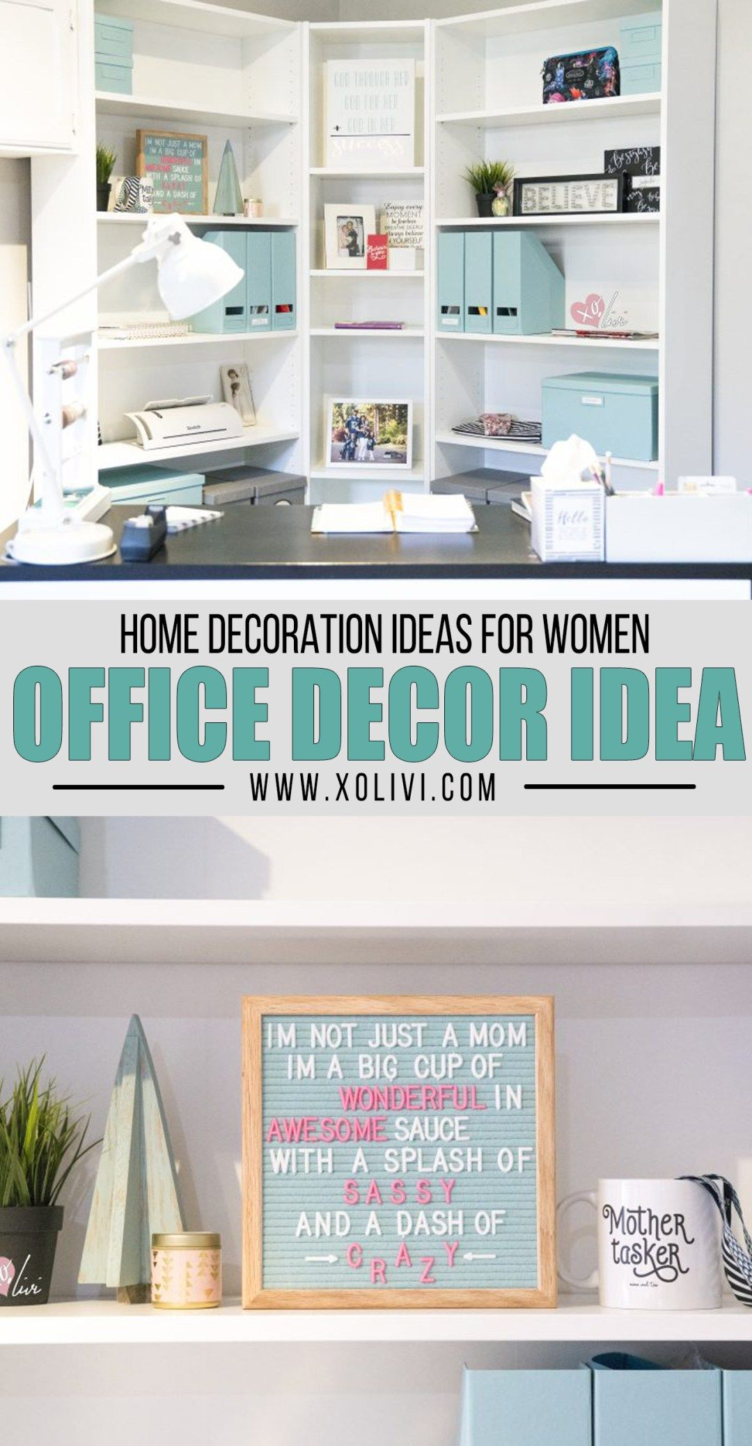 Creating An Office Corner On A Budget  Home office design, Home