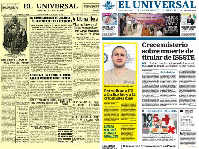 41c5c07096 EL UNIVERSAL, El Gran Diario de México cumple 99 años | De10 ...