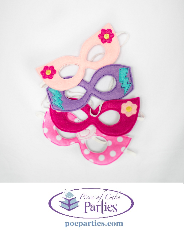 girl superhero masks by piece of cake parties charming effortless