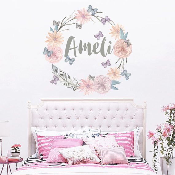 Personalized Name Wall Decal Rustic Nursery Decal by DecalHouse - baby room decals