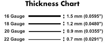 Image Result For S S Sheet Metal Gauge Sizes Sheet Metal Gauge Metal Gauge Sheet Metal