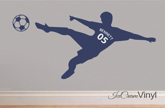 Soccer Sports Name Kids Wall Decal Childrens by IceCreamVinyl/ finalist
