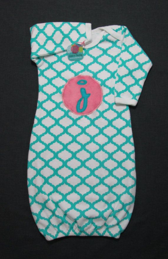 Hey, I found this really awesome Etsy listing at https://www.etsy.com/listing/206064371/quatrefoil-baby-gown-personalized-baby