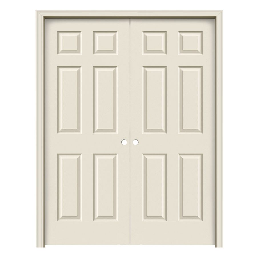 Jeld Wen Prehung Hollow Core 6 Panel Interior Door Common 48 In X 80 In Actual 49 563 In X 81 688 Reliabilt Prehung Doors Prehung Interior Doors