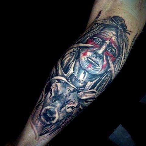 Top 87 Deer Tattoo Ideas 2020 Inspiration Guide Hunting Tattoos Deer Hunting Tattoos Tattoos For Guys