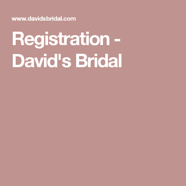 Wedding Hairstyle Quiz: Registration - David's Bridal