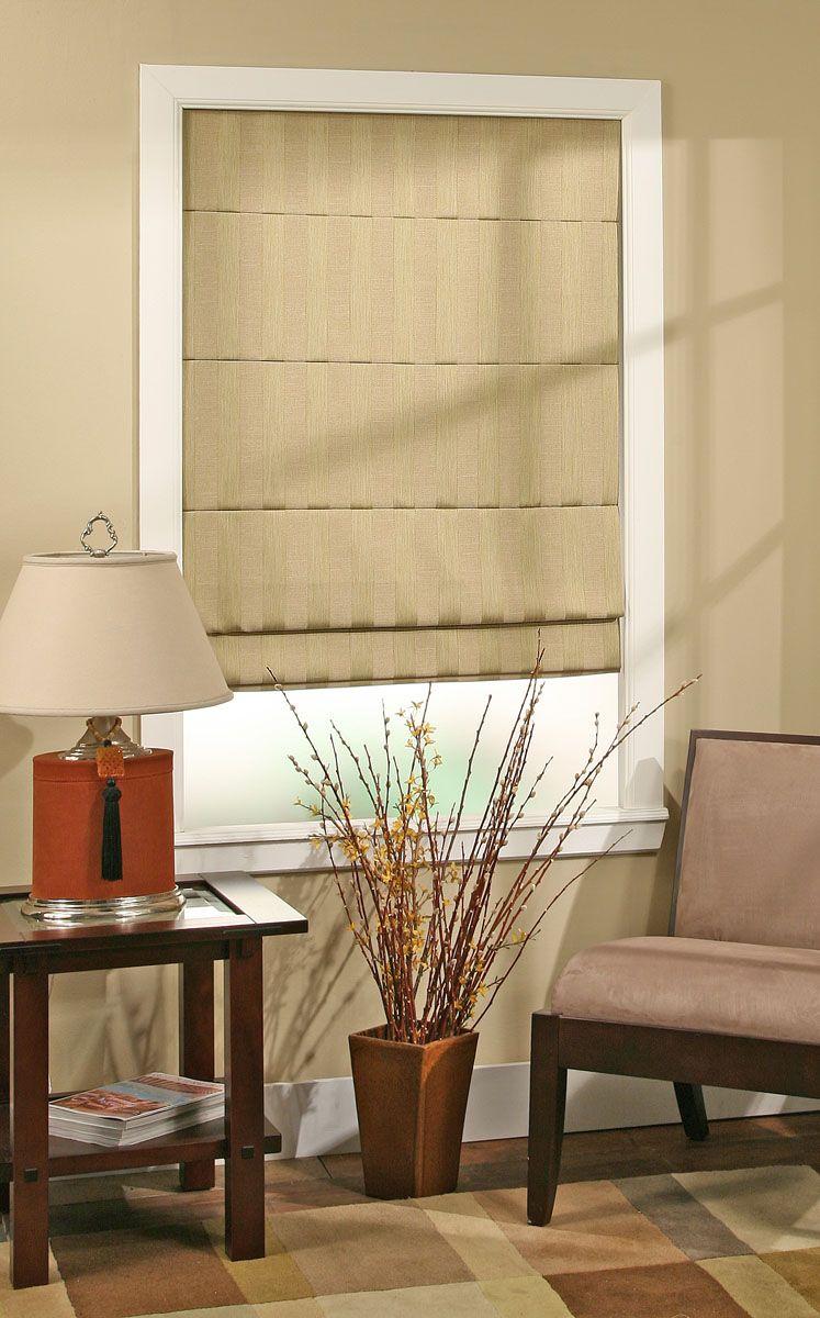 Stylish Pleated Roman Shades now 30% off! Fabric: Ashton Stripe ...