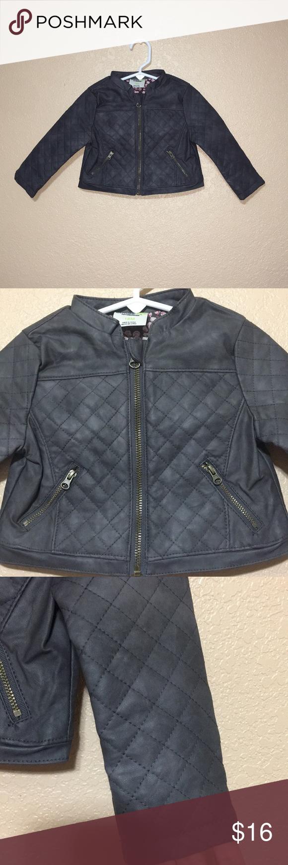 29ecda741 Genuine kids from Oshkosh quilted moto jacket 18m