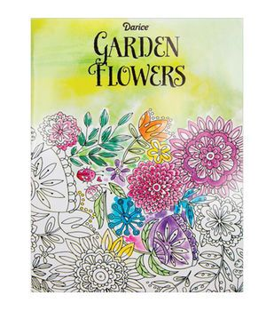 Adult Coloring Book Darice Garden Flowers