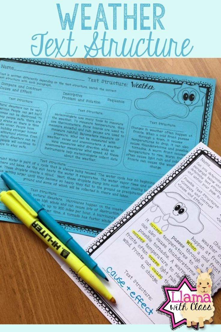 Workbooks text structure practice worksheets : Weather Text Structure Practice | Paragraph, Nonfiction and Texts