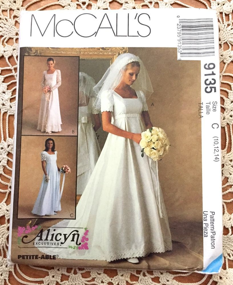 Wedding dress patterns with sleeves  WEDDING DRESS Sewing Pattern Renaissance Gown Bridesmaid Alicyn