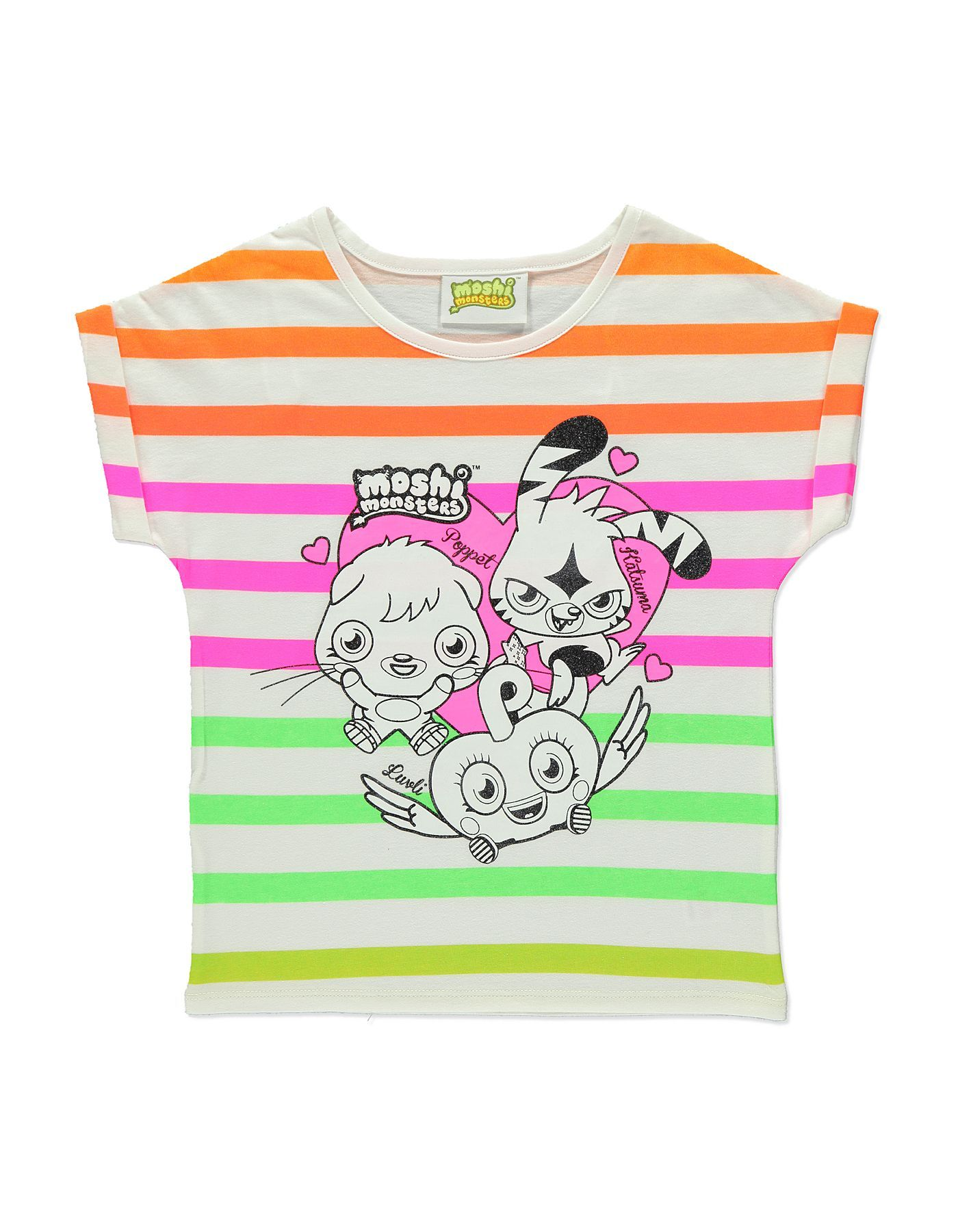 Fluorescent Moshi Monsters T-Shirt | Girls | George at ASDA