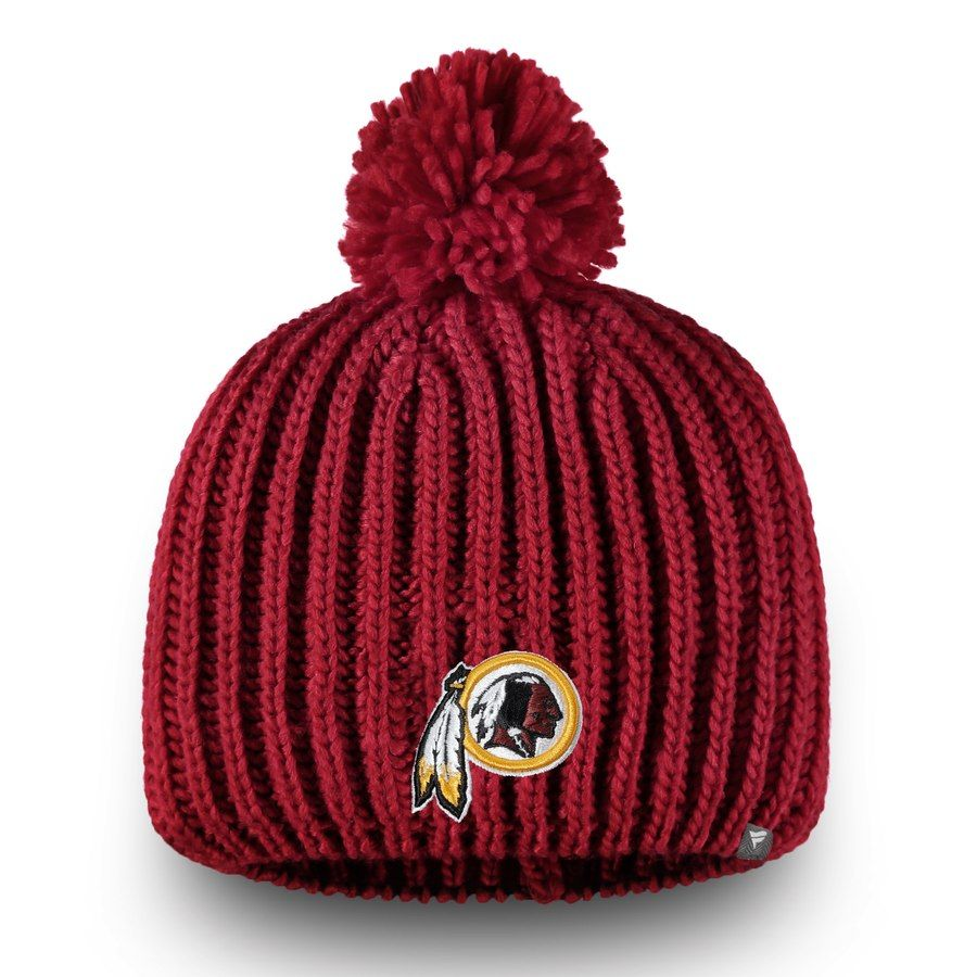 newest bc7cc e399d Women s Washington Redskins NFL Pro Line by Fanatics Branded Burgundy  Iconic Ace Knit Beanie, Your