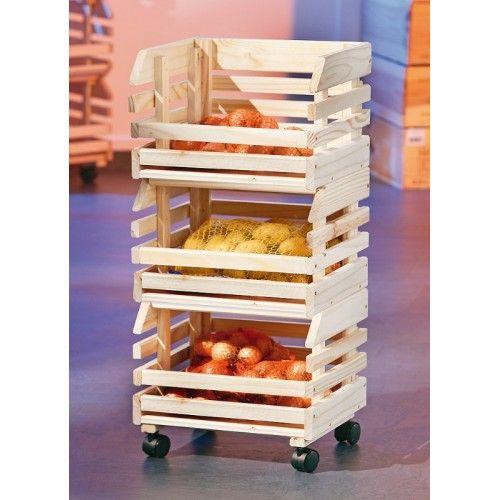 Rangement Fruits Et Légumes: Cette Cagette En Bois Sera Parfaite Pour Stocker Vos