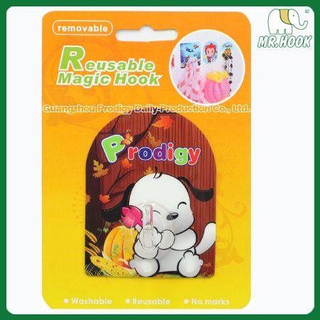 #Reusablefilmhook #filmhook #magichook #reusablemagichook Arch Shape: Cute Style Hook  Specification:70x90mm(base) 25x35mm(hook) 1pc Blister card size:16x11.5x2.1cm Outer carton: 38x32.5x28cm G.W.:4.5KG http://www.gzprodigy.com/product-category/hook/magichook/