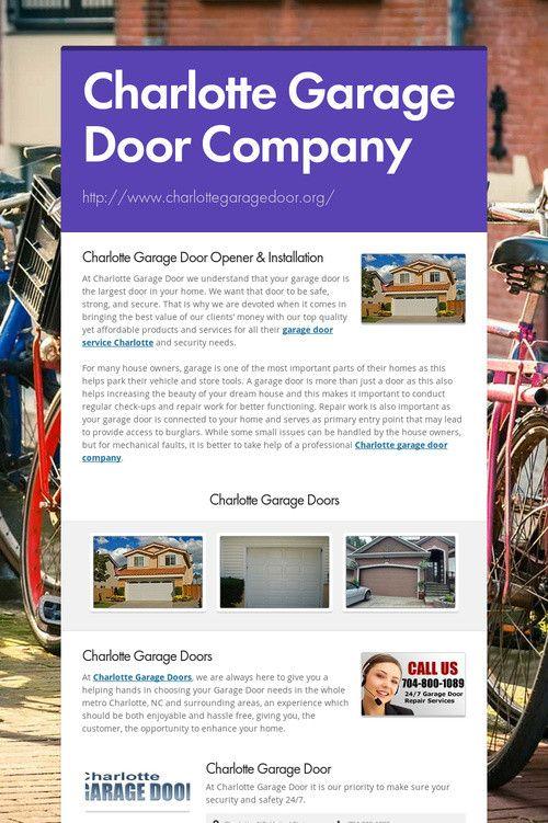 Charlotte Garage Door Company Charlotte Garage Door Repair