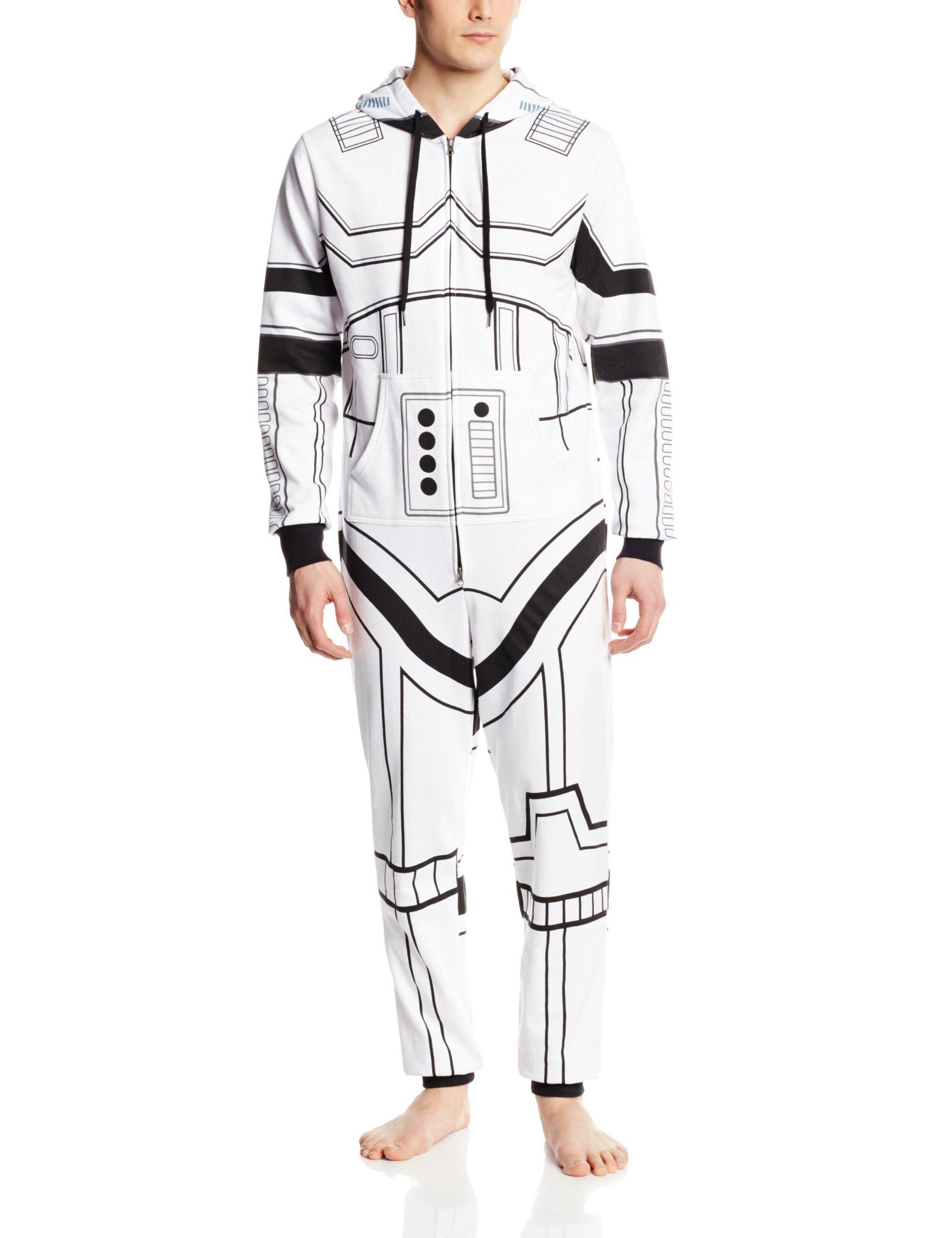Star Wars Men's storm Trooper Jumpsuit Sweatshirt onesie pajamas ...