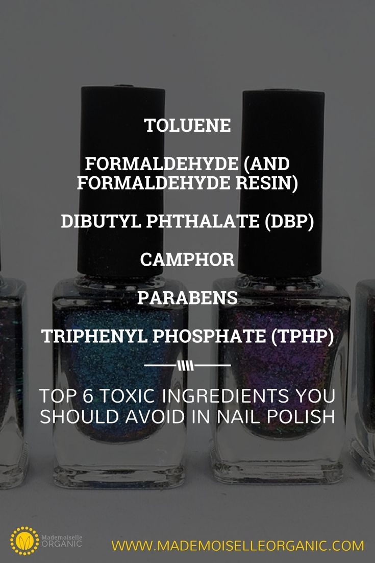 TOP 6 TOXIC INGREDIENTS YOU SHOULD AVOID IN NAIL POLISH | Make your ...