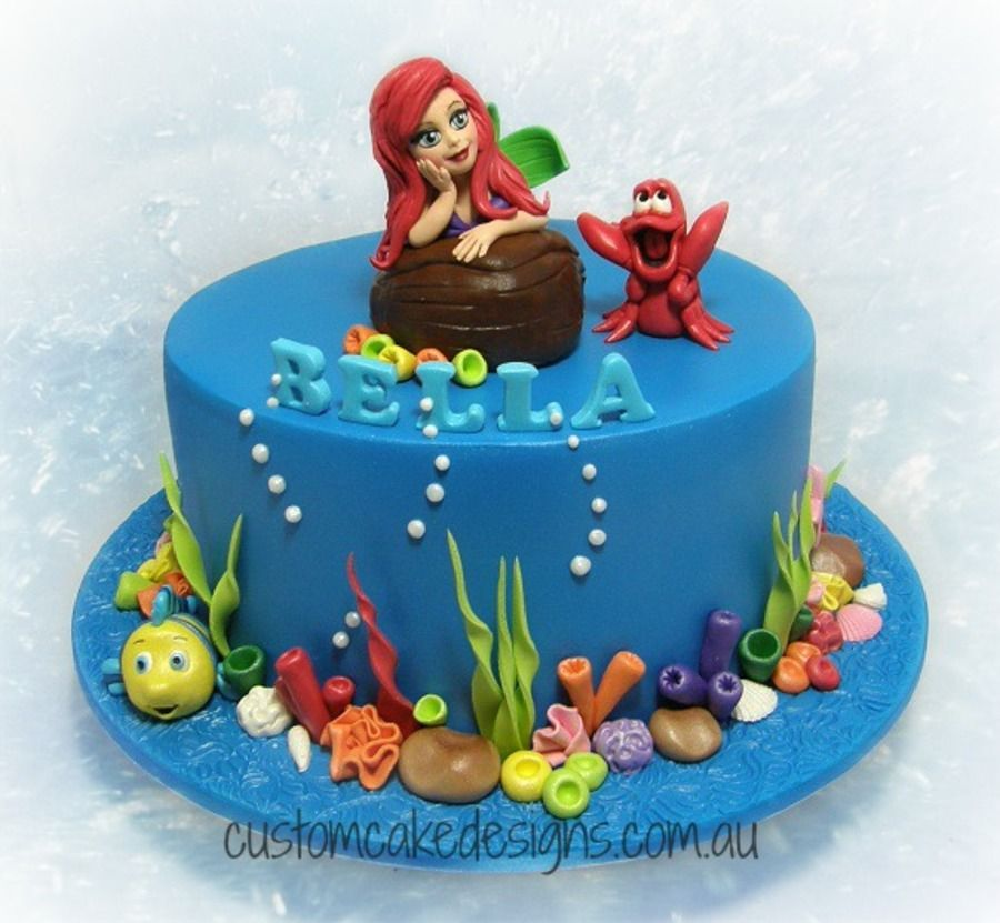 Ariel Little Mermaid Cake The Little Mermaid Pinterest Mermaid