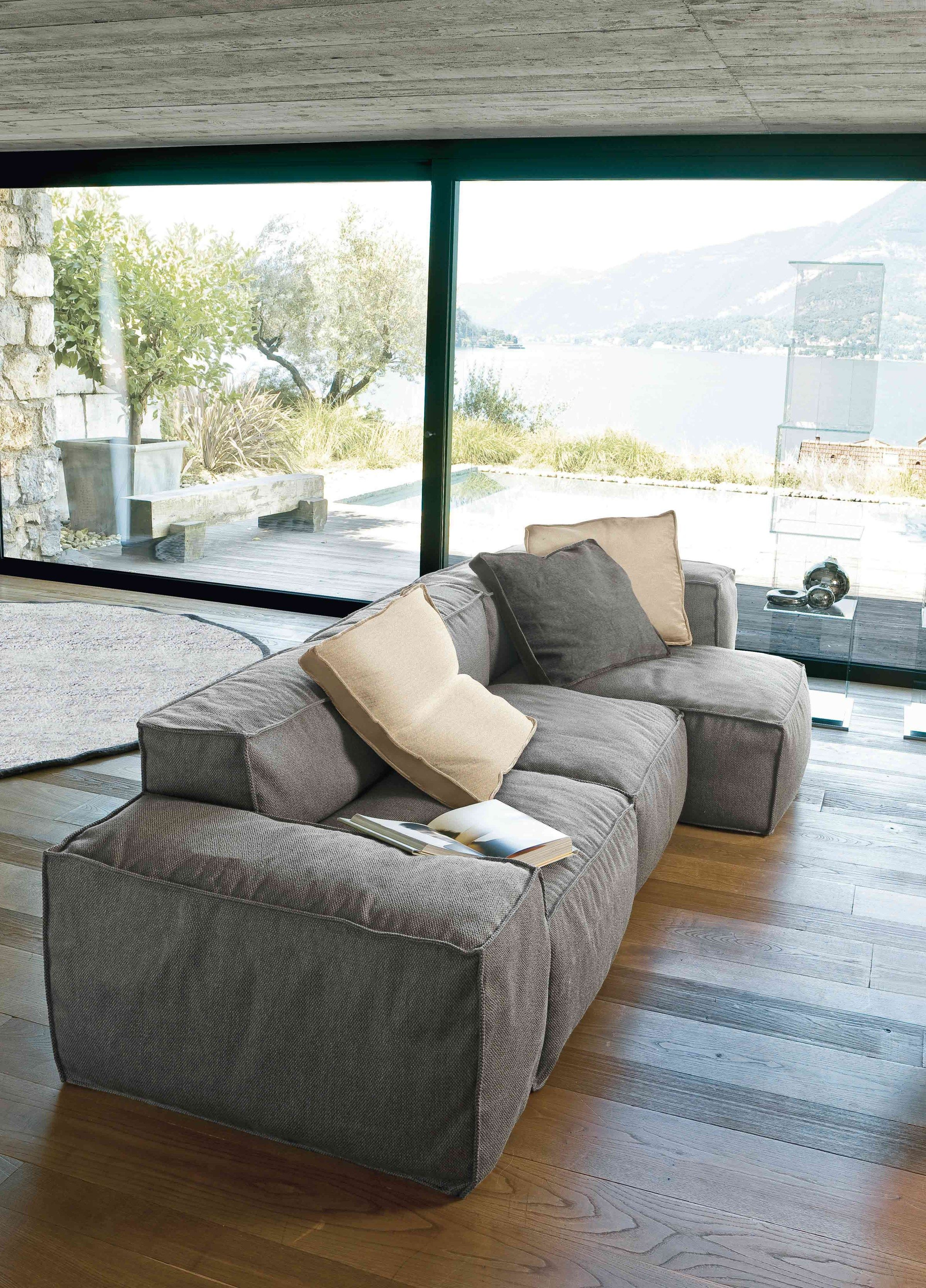 Sectional upholstered sofa PEANUT Peanut Collection by bonaldo