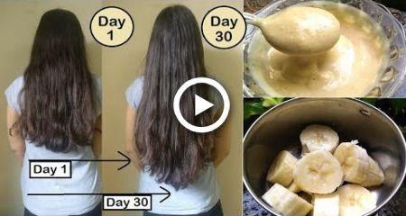 Your hair will grow like crazy Double Hair Growth  Thick Hair  Banana Hair Mask for