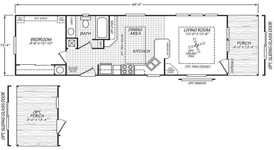 Lakeview 14 X 48 559 Sqft Mobile Home Floor Plans Building A New Home Mobile Home