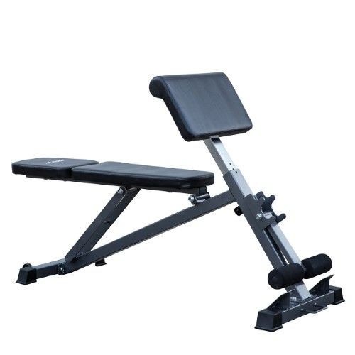 Akonza C All In One Bench Ab Hyperextension Preacher Curl Fitness Equipment Adjustable Weight Benches Recumbent Bike Workout Biking Workout