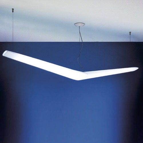 Fluorescent Light Fixture Turns Off By Itself: Mouette Asymmetrical Suspension Light