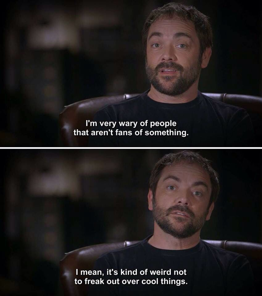 He is awesome. I'm still not over him being out, Chuck damn it.