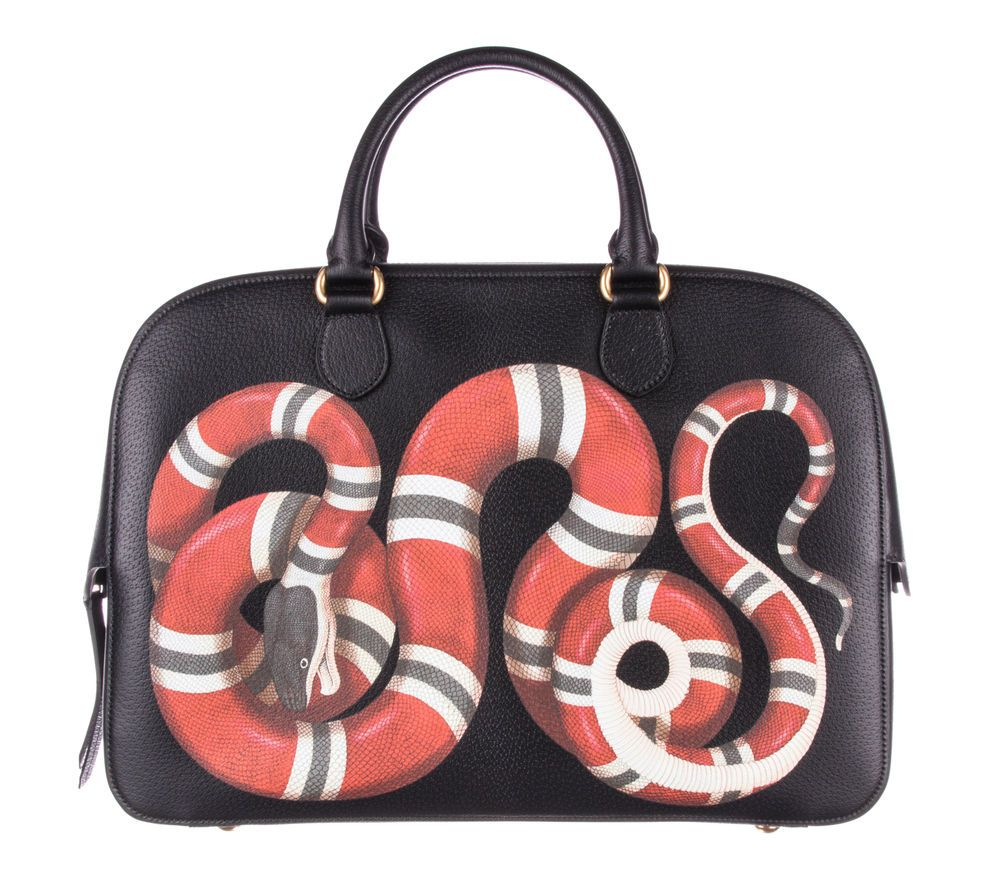 cb32055e0e82 Gucci Snake print leather duffle   My Style in 2019   Gucci snake ...