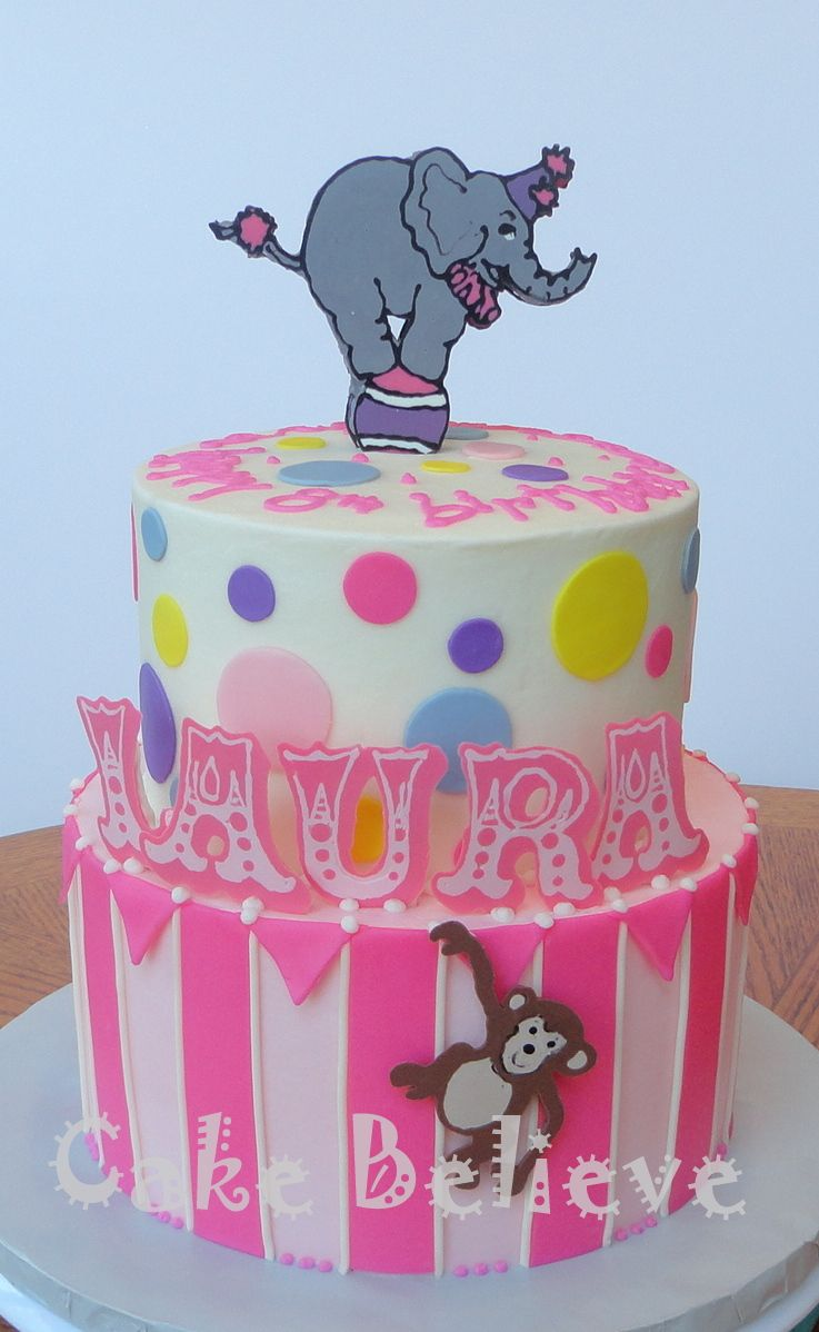 circus birthday cake Cakes and Cupcakes for Kids birthday party