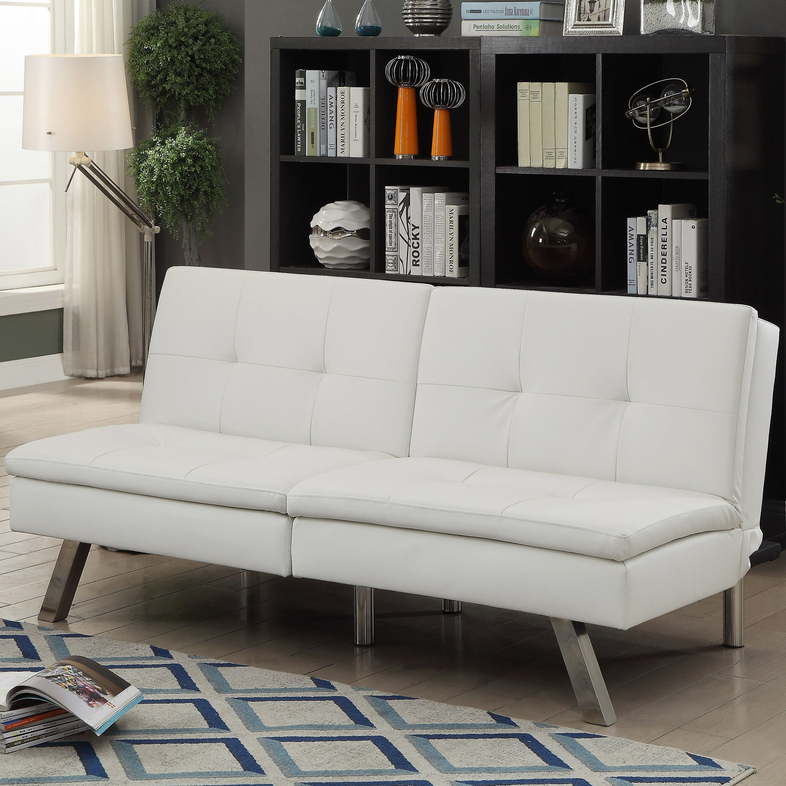 Furniture of America Stensall Contemporary Tufted Leatherette Split