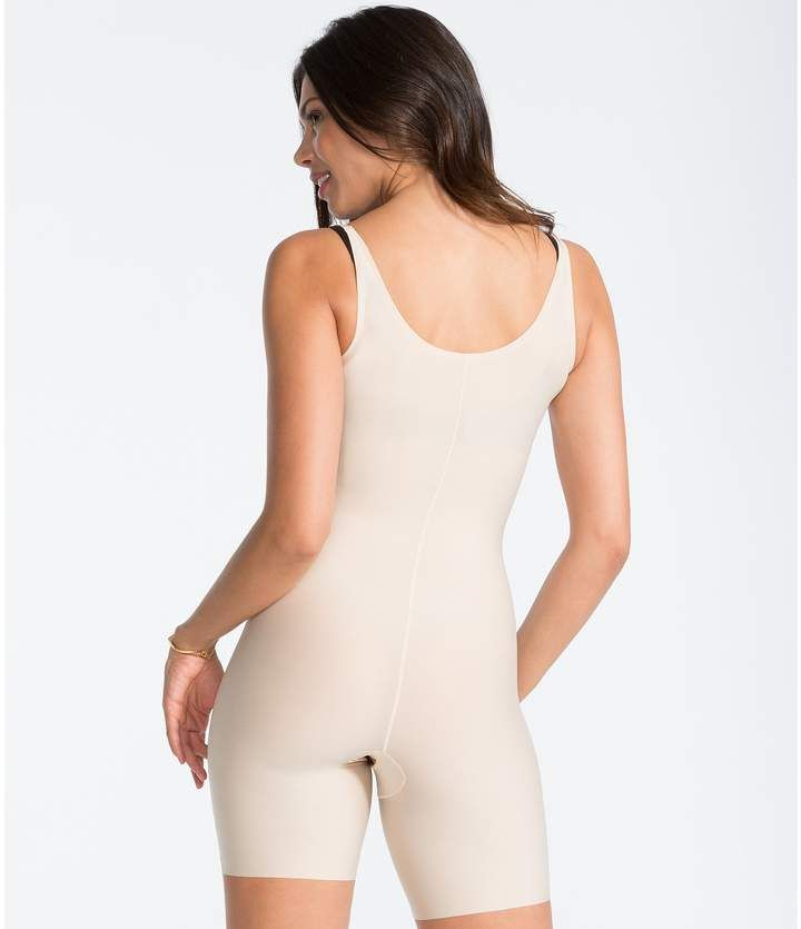 8cbc16d8821e5 Spanx Thinstincts Open-Bust Mid-Thigh Bodysuit  Open Thinstincts Spanx