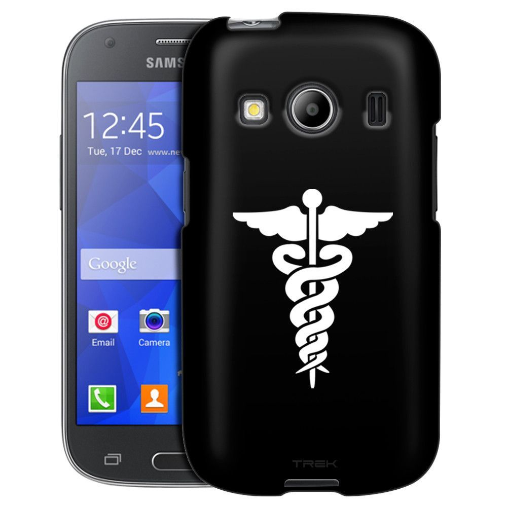 Samsung Galaxy Ace Style Silhouette Cadueus on Black Case
