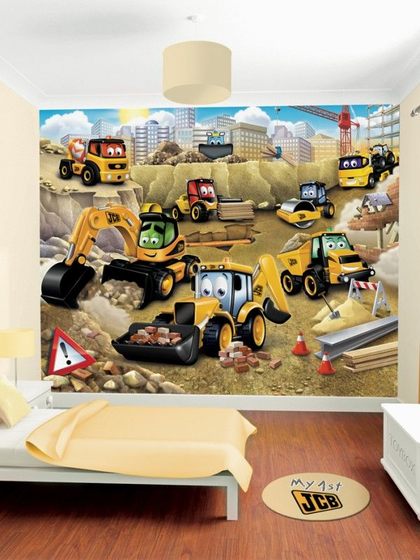 My 1st JCB Boys wallpaper murals for kids bedroom Ireland