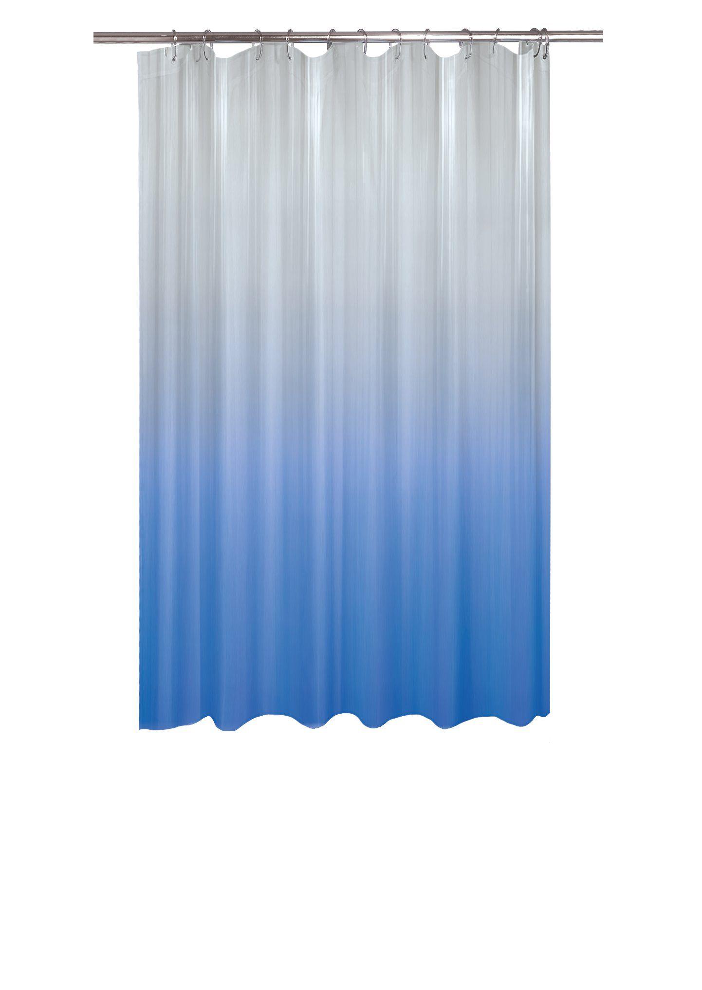 Duschvorhang SEGUNDA Blau B 180 H 200 cm Duschvorhänge Micasa