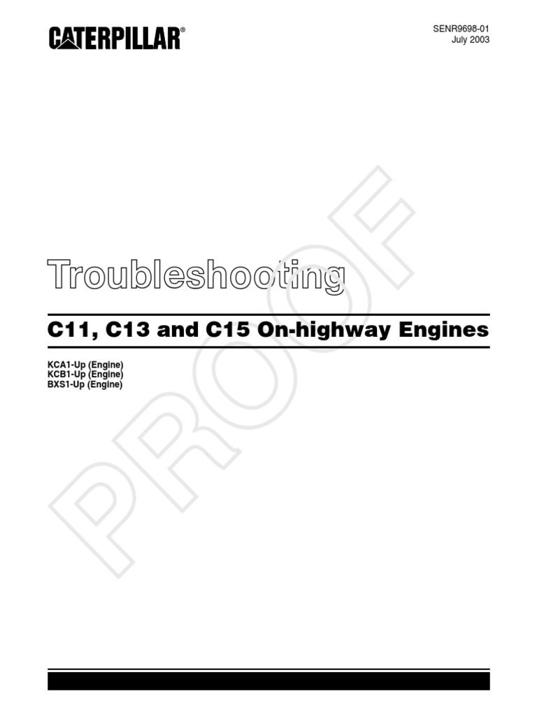 Cat C15 Generator Troubleshooting En 2020