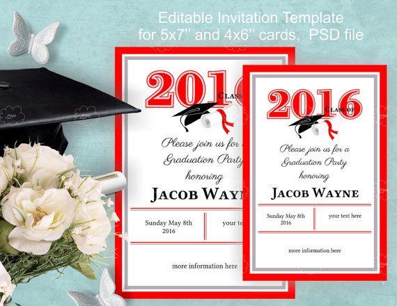 Graduation Invitation Size