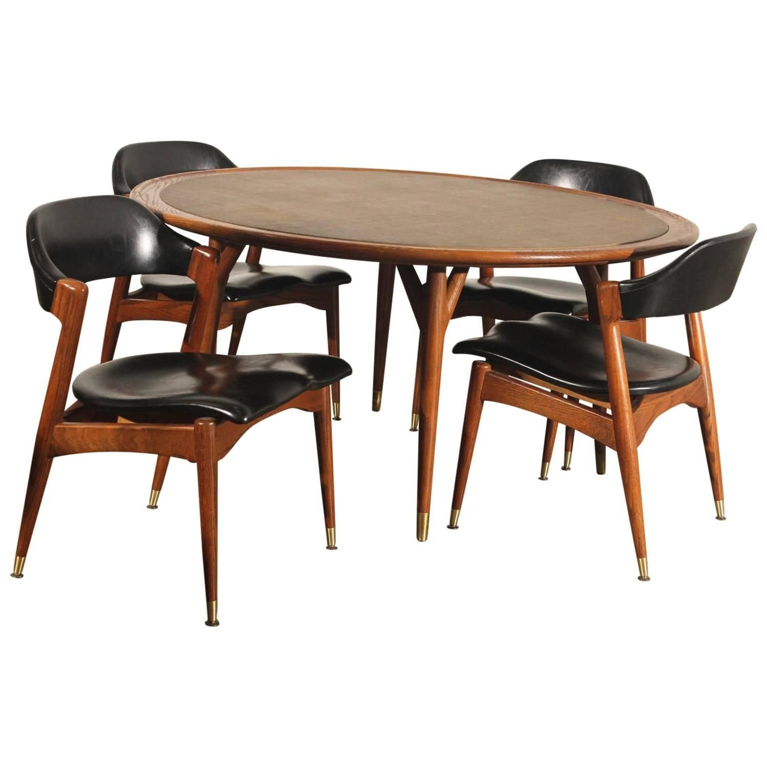 americana casual game table chairs by jack van der molen for