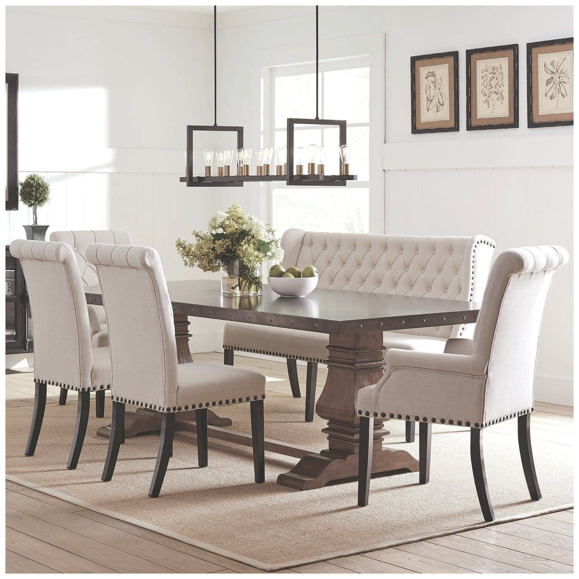 Our Best Dining Room Bar Furniture Deals Dining Set With Bench And Chairs Di In 2021 Dining Table With Bench Black Dining Room Furniture Dining Set With Bench