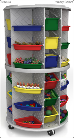58 High Mobl Lite Storage Tower Granite Gray From Honor Roll